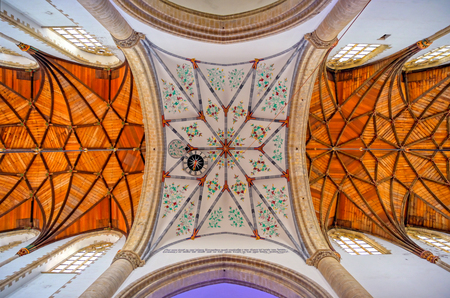 Haarlem, Netherlands - April 30, 2019 - The interior of the St. Bavo Church in the Dutch city of Haarlem, the Netherlands. Banque d'images - 129491723