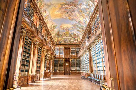 Praga, Repubblica Ceca - 9 maggio 2019 - La biblioteca del Monastero di Strahov situato a Strahov, Praga, Repubblica Ceca. Editoriali