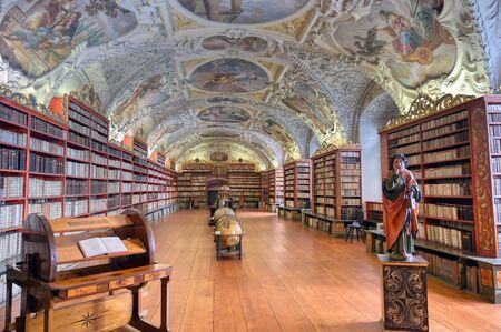 Praga, Repubblica Ceca - 9 maggio 2019 - La biblioteca del Monastero di Strahov situato a Strahov, Praga, Repubblica Ceca.