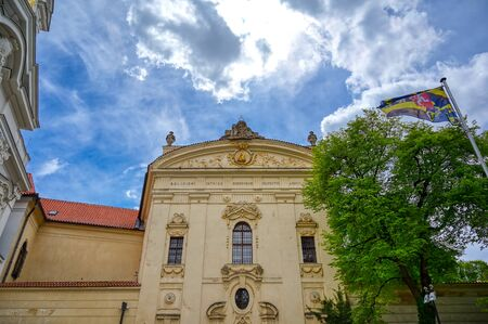 The exterior of the Strahov Monastery in Prague, Czech Republic. Stock Photo - 131603431