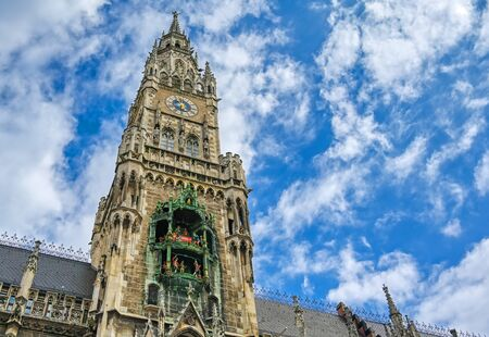 The New Town Hall located in the Marienplatz in Munich, Germany