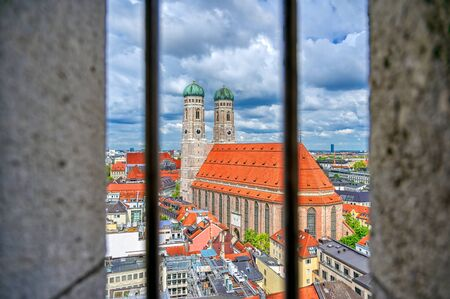 The Frauenkirche, or Cathedral of Our Dear Lady) located in Munich, Bavaria, Germany. Фото со стока