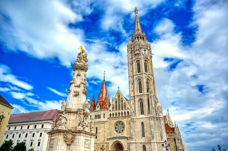 The Church of the Assumption of the Buda Castle, more commonly known as the Matthias Church, located in Budapest, Hungary. 版權商用圖片