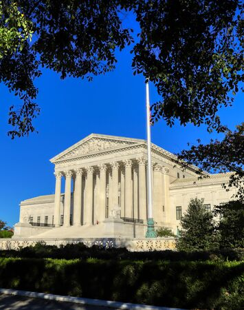 The United States Supreme Court Building in Washington, DC.