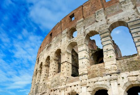 The Colosseum located in Rome, Italy.