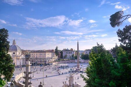 Piazza del Popolo located in Rome, Italy.