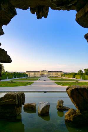 Vienna, Austria - May 18, 2019: Schönbrunn Palace (Schloss Schönbrunn) located in Vienna, Austria.