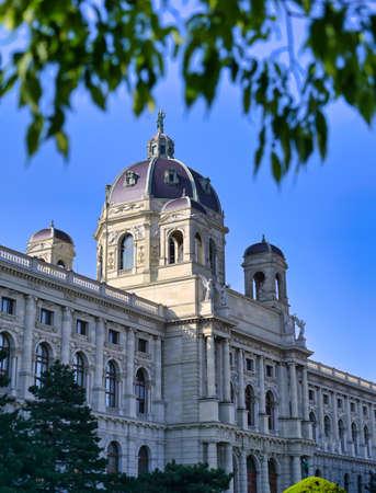Vienna, Austria - May 18, 2019 - The  Kunsthistorisches Museum or Museum of Fine Art located in Vienna, Austria.