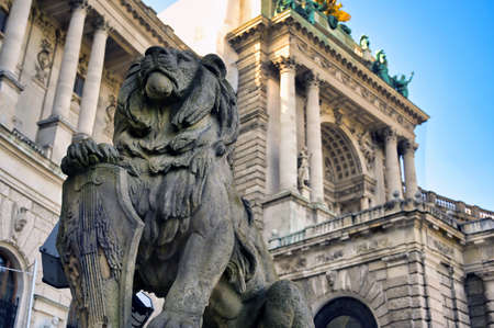 Vienna, Austria - May 18, 2019 - The Hofburg Palace is a complex of palaces from the Habsburg dynasty located in Vienna, Austria.