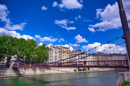 Lyon, France and the architecture along the Saone River.
