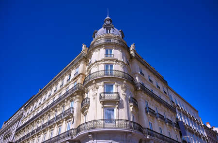 Architecture along the streets in Lyon, France. 版權商用圖片