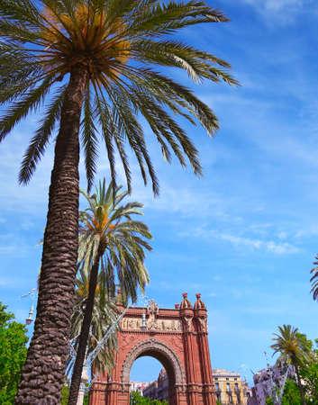 The Arc de Triomf in the city of Barcelona in Catalonia, Spain. Stockfoto