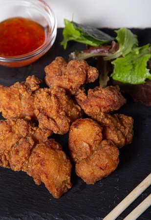 Japanese Cuisine, Karage, Japanese Style Fried Chicken Stock Photo