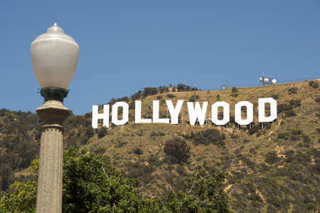 Hollywood, California - April 17, 2009: The Hollywood sign, built in 1923, is one of the main landmarks of Los Angeles