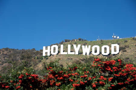 hollywood movie: Hollywood, California - February 10, 2010: The Hollywood sign, built in 1923, is shown as Hollywood gets ready to host the 82nd Academy Awards. Photo taken on February 10, 2010. Hollywood, California. Editorial