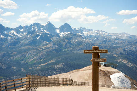 Panoramic from the top of Mammoth Mountain, California during summer