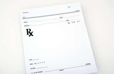 Blank prescription ready for you to fill. Includes all the basic information Banco de Imagens