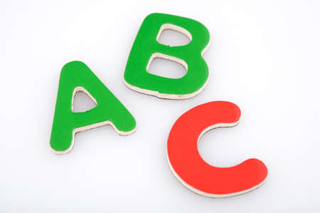 ABC made with multicolored magnetic letters Stock fotó