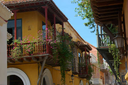 spanish style: Spanish style architecture in Cartagena, Colombia