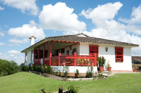 colonial: Traditional Colombian farm house