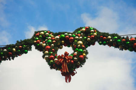 Anaheim, California, USA, December 13, 2009 � Christmas decoration with the shape of Mickey Mouse at Disneyland