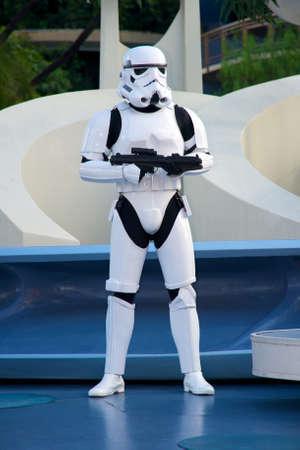 star wars: Anaheim, California, USA, December 13, 2009 – Star Wars soldier at Disneyland