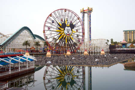 disneyland: Anaheim, California, USA, March 21, 2010 � Construction of the new water attraction at Disney California Adventure Editorial