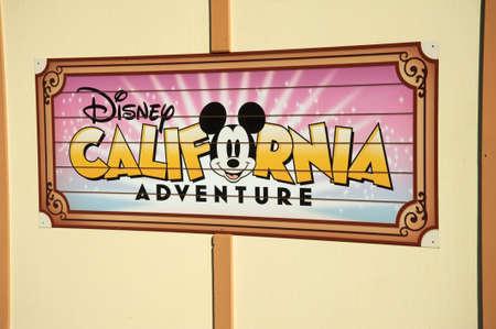 Anaheim, California, USA, November 21, 2010 – Disney California Adventure with tha face of Mickey Mouse on a wall Editorial