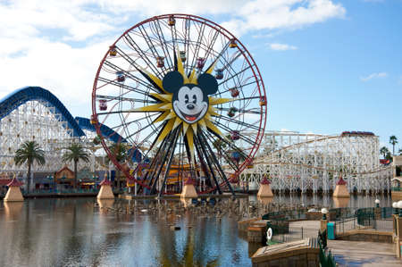 Anaheim, California, USA, November 21, 2010 � Construction of the new water attraction at Disney California Adventure
