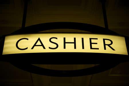 Cashier sign Banco de Imagens