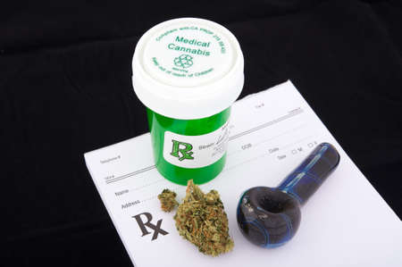 medicinal: Medical marijuana prescription Stock Photo