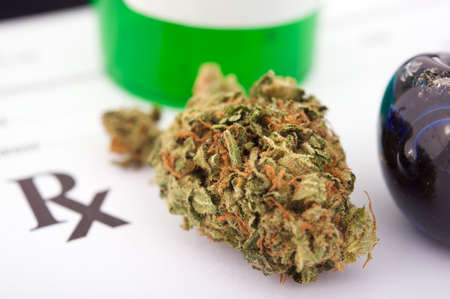 medicinal marijuana: Marijuana prescription Stock Photo