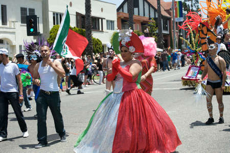 Mexican group during the Long Beach Lesbian and Gay Pride Parade 2012 Stock Photo - 13744551