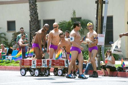 Men having fun during the Long Beach Lesbian and Gay Pride Parade 2012 Stock Photo - 13775767