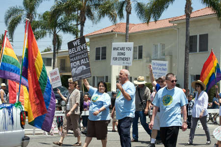 First Congregational Church of Long Beach during the Long Beach Lesbian and Gay Pride Parade 2012