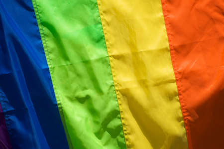 sexual orientation: Close-up of the gay and lesbian flag
