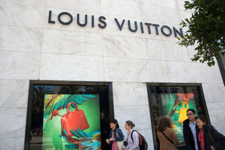 louis vuitton: Louis Vuitton vetrine in San Francisco
