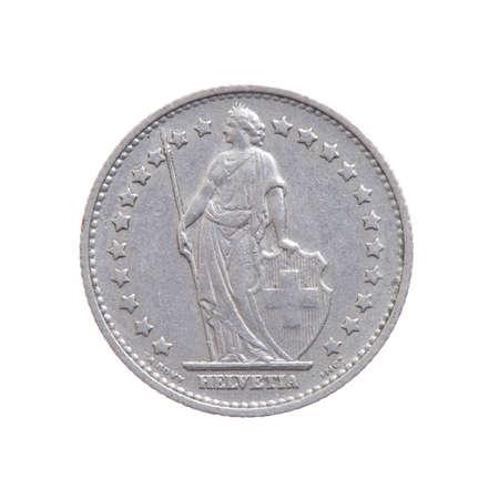 スイスフラン通貨、国際カレックニーは白い背景に孤立。 写真素材 - 92801934