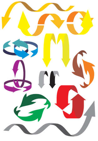 arrows with diverse direc��es, vector Vector