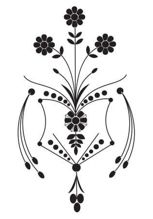 Rustic engraving of flowers, vetor Stock Vector - 2413913