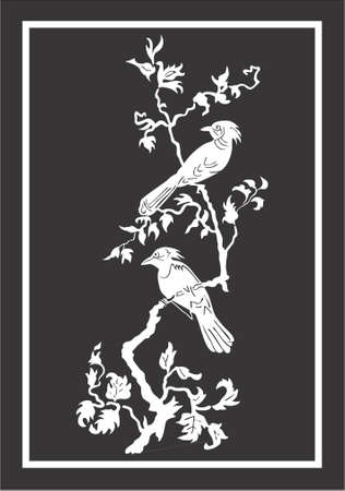 freedom of expression: the birds in the trees, vestor, illustration