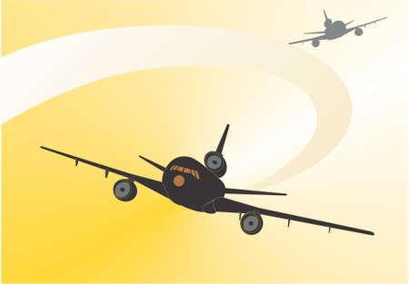 transporteur: Airline. Flying transporteur international, vecteur, illustration Illustration