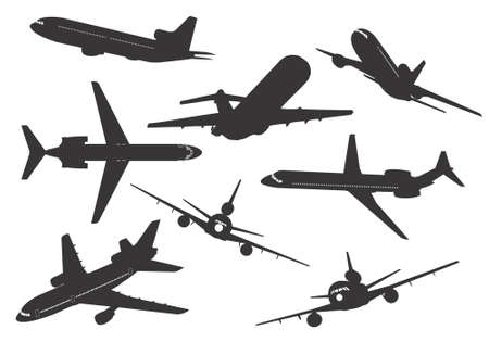 altitude: Silhouette of commercial aircraft.