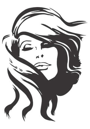 Diseño modelo de cara, vector, ilustración