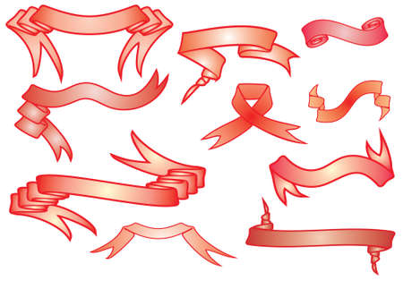Red Banners, vector Vector