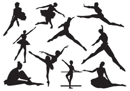 lyrical dance: ballerina and ballet, vector