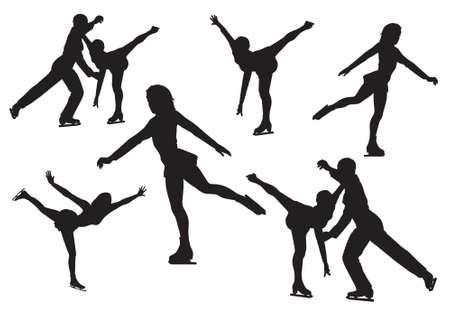 silhuette de patinage artistique