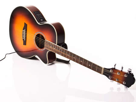 Acoustic and electric guitar photo