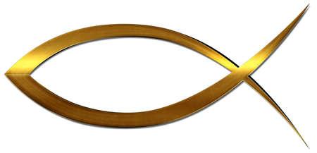 A Christian fish symbol Reklamní fotografie - 49311292
