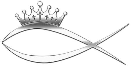 christendom: A fish with a crown